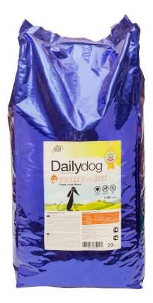 Сухой корм для щенков Dailydog Puppy Large Breed, для крупных пород, индейка и рис, 20кг