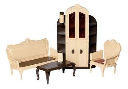 Мебель для гостиной для кукольного дома Огонек