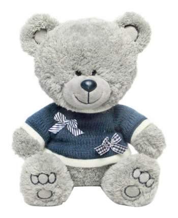 Мягкая игрушка LAVA Медвежонок Ники в синей кофточке с бантиками музыкальный