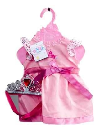 Одежда для кукол Junfa toys - платье с поясом в наборе с короной, от 1 года, 30x20x3 см
