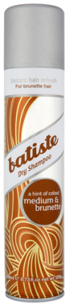 Сухой шампунь BATISTE Medium для шатенок и брюнеток, 200 мл