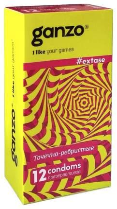 Презервативы Ganzo Extase Точечно-ребристые 12 шт