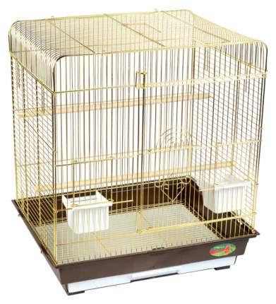 Клетка для птиц Triol A4005G, золото, цвет поддона в ассортименте, 35x28x46см