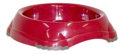 Одинарная миска для кошек MODERNA, пластик, красный, 0.21 л