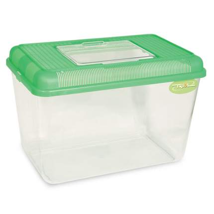 Переноска для грызунов Triol зеленый пластик 37.5x24x26 cм
