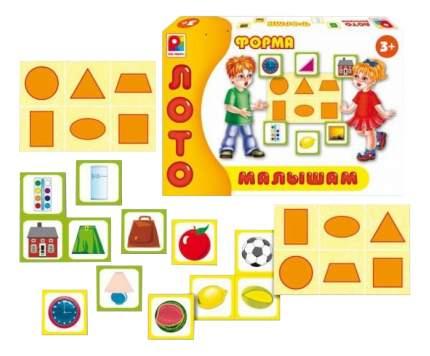 Семейная настольная игра Радуга Лото малышам Форма