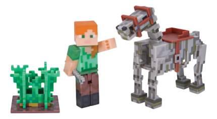 Набор фигурок Jazwares Games: Minecraft: Alex with horse