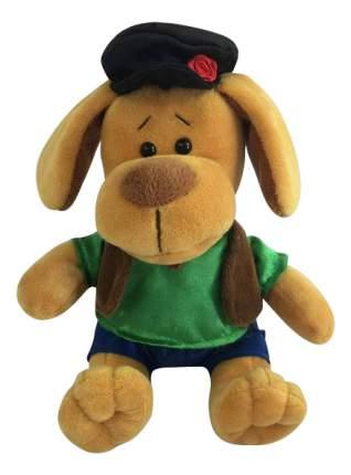 Мягкая игрушка Teddy Собака в кепке, 15 см