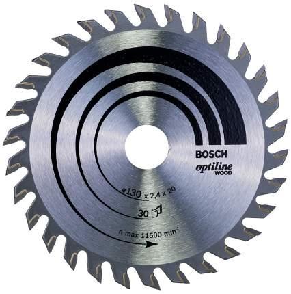 Диск по дереву Bosch STD WO 130x20-30T 2608640583