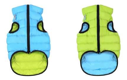 Куртка для собак AiryVest размер S унисекс, зеленый, голубой, длина спины 35 см