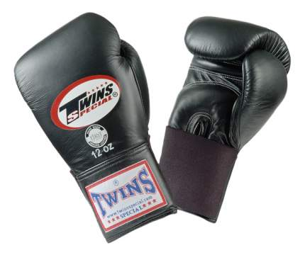 Боксерские перчатки Twins Special BGEL-1 черные 8 унций