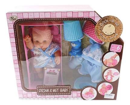 Кукла Shantou Gepai с кроваткой и аксессуарами звук 6625-4B
