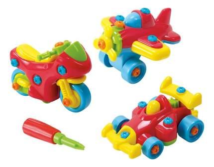 Набор пластиковых машинок Playgo Юный механик 3 в 1
