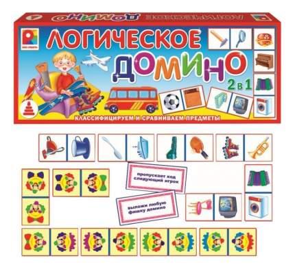 Семейная настольная игра Домино логическое Предметы 2 Радуга с-558