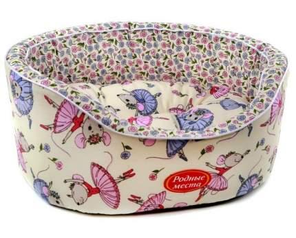 Лежанка для кошек и собак Родные места 38x43x15см разноцветный