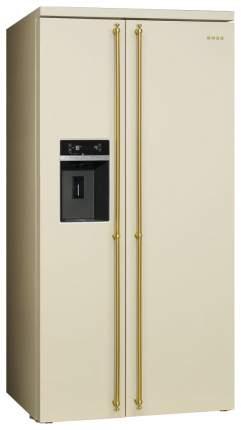 Холодильник Smeg SBS 8004 P Beige