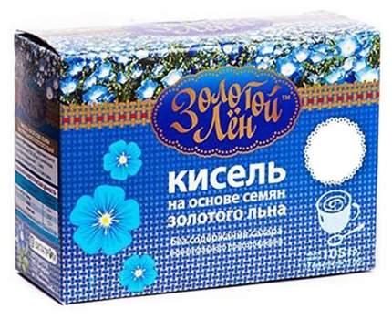 Кисель на льняной основе Золотой лен черника 7 пакетов по 15 г