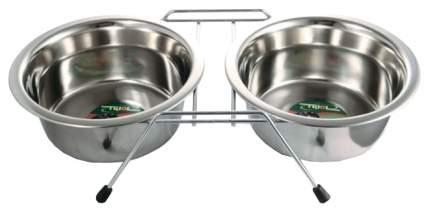 Набор мисок для собак Triol, сталь, серебристый, 2 шт по 2.6 л