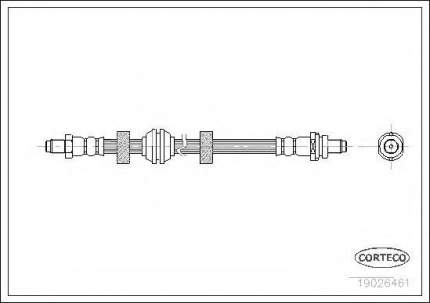 Шланг тормозной Corteco 19026461