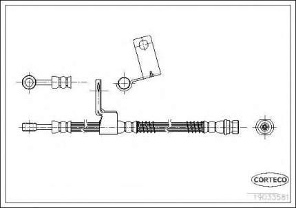 Шланг тормозной Corteco 19033581