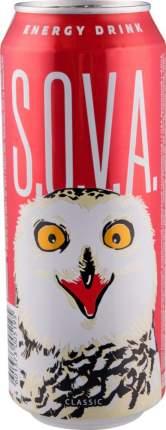Напиток энергетический Sova безалкогольный газированный классический жестяная банка 0.5 л