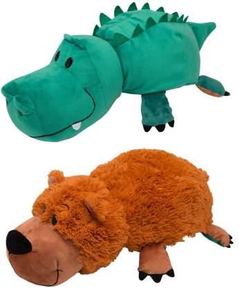 Мягкая игрушка 1 TOY Вывернушка Медведь и Крокодил 40 см