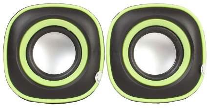 Колонки компьютерные BBK CA-301S Черный/Зеленый 2x3 Вт