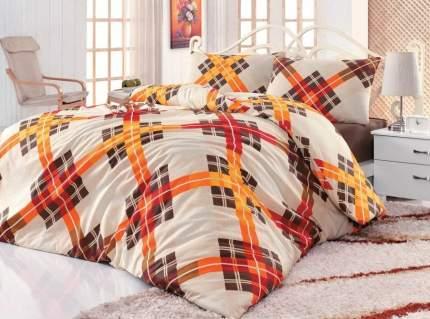 Постельное белье Cotton Life Allison Цвет: Коричневый (1,5 спальное)