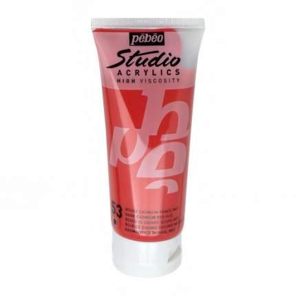 Акриловая краска Pebeo Studio Acrylics 831-053 кадмий темно-красный 100 мл