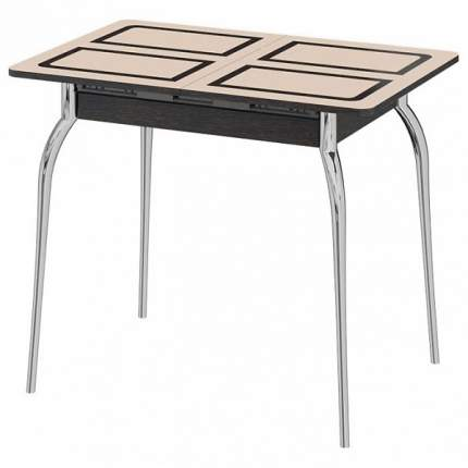 Кухонный стол ТриЯ Стол обеденный Рим СМ-218.01.01 90-121,5х60х75 см хром