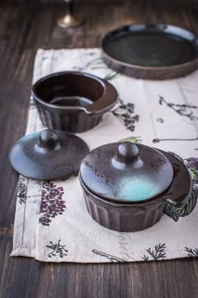 Рамекин с крышкой Борисовская керамика черный 5451
