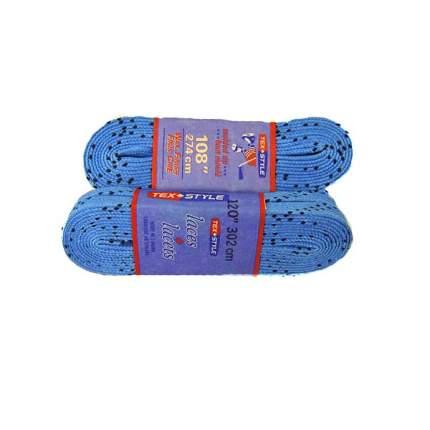 Шнурки для коньков Tex Style W924 голубые, 2,44 м