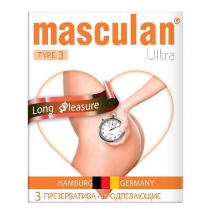 Презервативы Masculan 3 Ultra проднвающие эффект 3 шт.