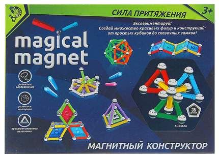 Магнитный конструктор Magical Magnet - Необычные фигуры, 35 деталей Забияка