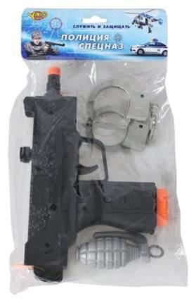 Набор полицейского Наша игрушка автомат, наручники, граната