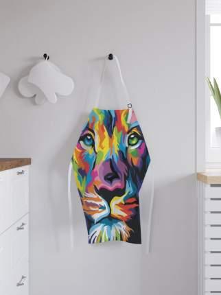 JoyArty Фартук кухонный регулируемый «Лев в ярких красках», универсальный размер