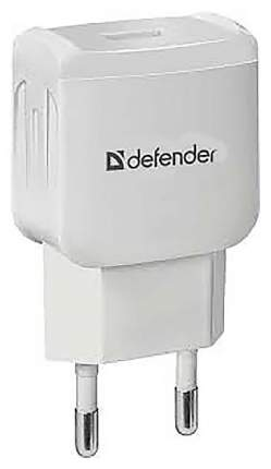 Сетевой адаптер Defender EPA-02 черный, 1 USB, 5V/1А, пакет