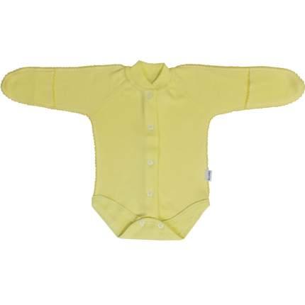 Боди Папитто на кнопках интерлок однотонный Желтый р.20-62 И37-329н
