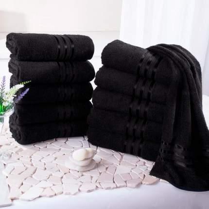 """Полотенце для лица """"Гармоника"""" Цвет: Черный (50х80 см - 10 шт)"""