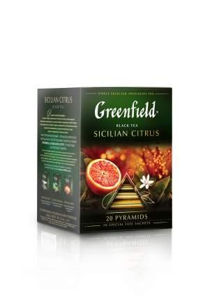 Чай черный Greenfield в пирамидках sicilian citrus 20 пакетиков