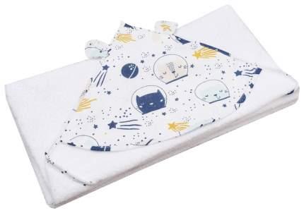Полотенце детское AmaroBaby Cute love Космос белый 90*90 см