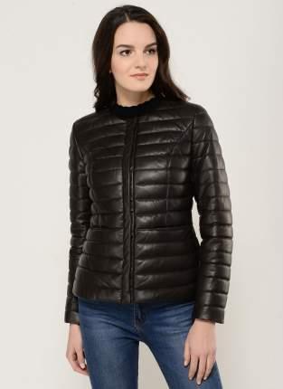 Кожаная куртка женская Каляев 71408К коричневая 50 RU