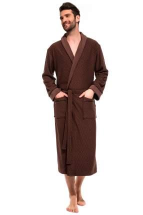 Мужской облегченный махровый халат из бамбука Peche Monnaie 419, шоколадный, XXL