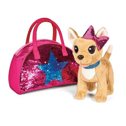 """Мягкая игрушка CHI CHI LOVE 5893351 Cобачка """"Блестящая мода"""" с сумочкой"""