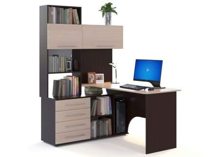 Компьютерный стол СОКОЛ КСТ-14 КСТ-14, венге/беленый дуб