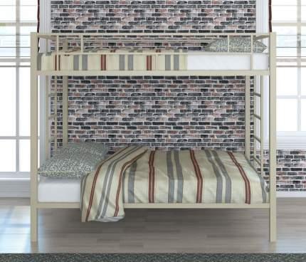 Двухъярусная кровать для детей с бортиками ЧСМФ Валенсия 120 Твист Слоновая кость