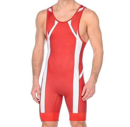 Трико Asics Wrestling Singlet, red, XXL INT