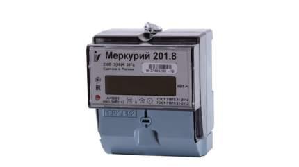 Счетчик электроэнергии Incotex Меркурий 201.8, 1 тариф, 1 фаза, 5А