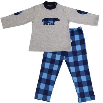 Пижама детская Папитто, цв. белый; синий р.80