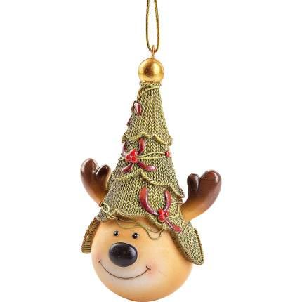 Елочная игрушка Mister Christmas Олень с елкой 12 см